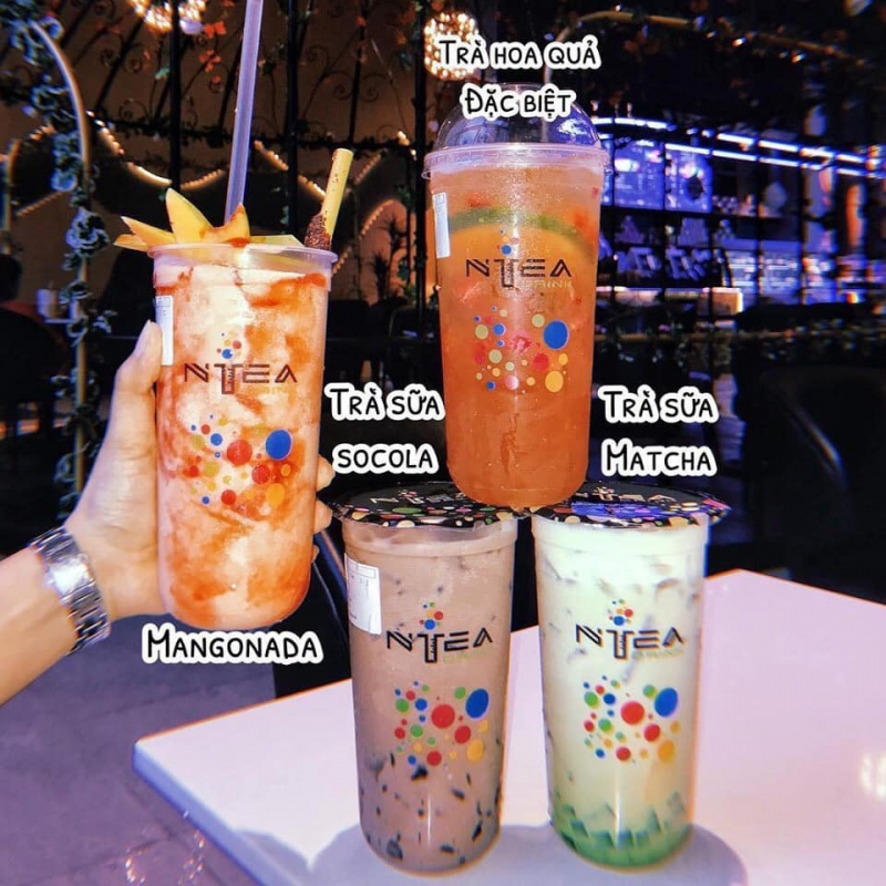 """NTea Drink là thương hiệu trà sữa ống nghiệm dù mới """"đổ bộ"""" vào thị trường Sài Gòn những năm gần đây nhưng đã nhanh chóng thu hút được sự tin tưởng sử dụng của đông đảo các bạn trẻ Sài thành"""