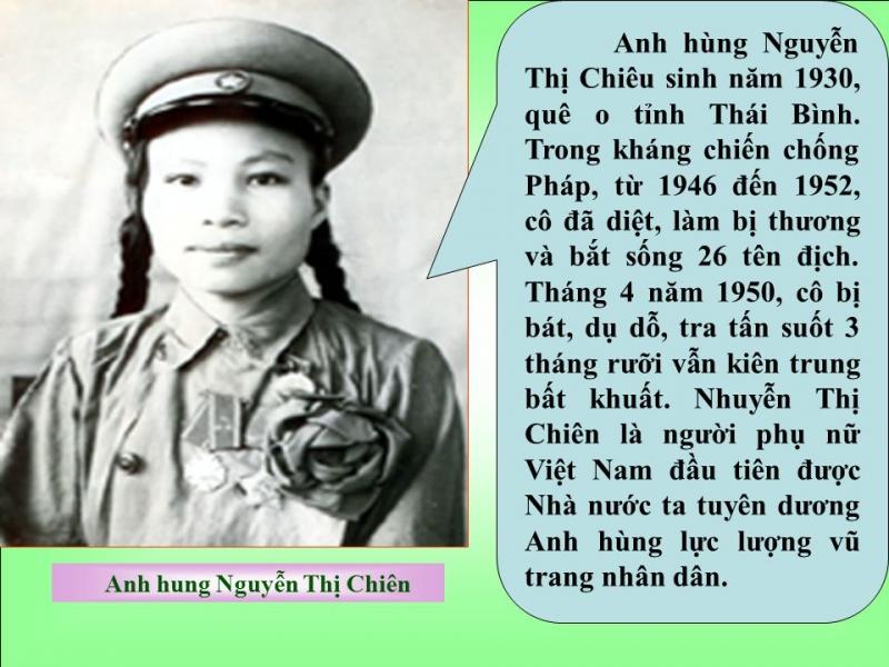 Nguyễn Thị Chiên - Nữ Anh hùng đầu tiên của quân đội hiện đại