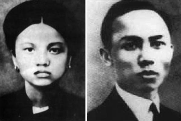 Hai vợ chồng Lê Hồng Phong - Nguyễn Thị Minh Khai