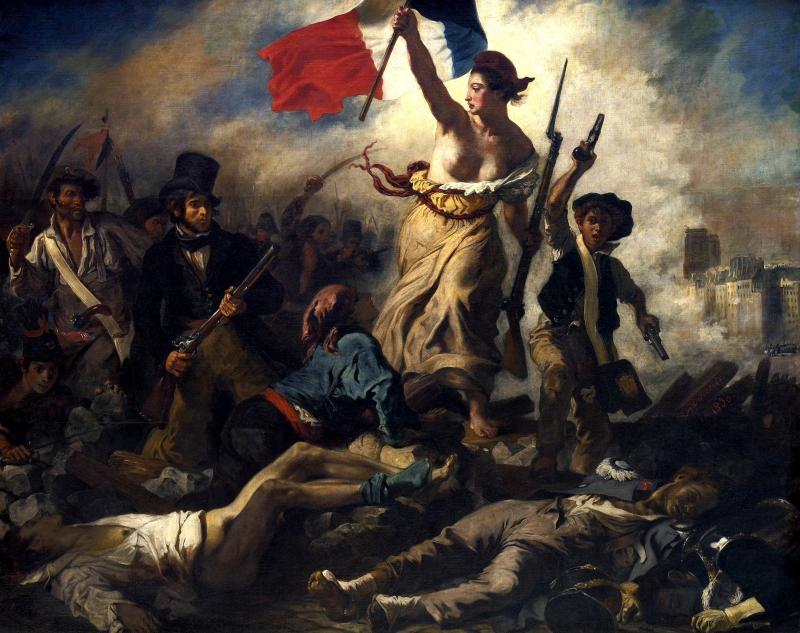 Bức tranh nữ thần Tự do dẫn dắt nhân dân