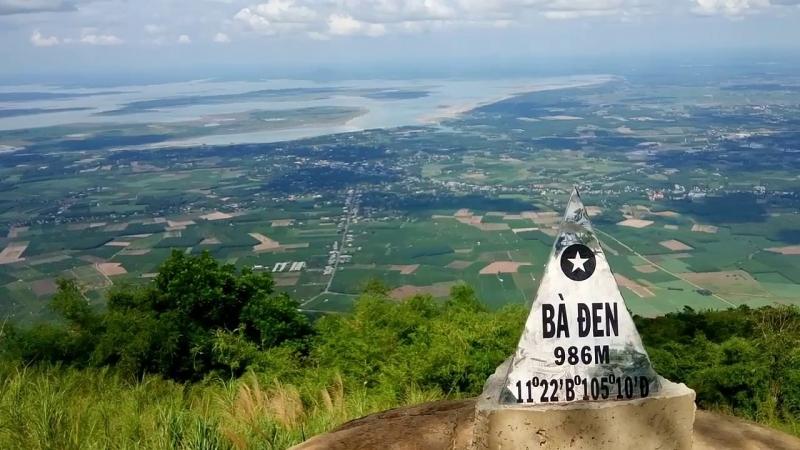 Từ Núi Bà Đen nhìn xuống