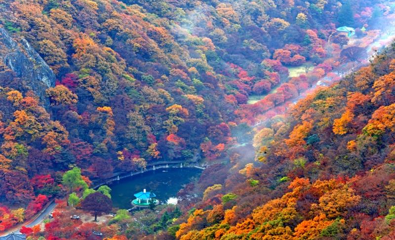 Thung lũng sâu và đẹp như mơ của núi Gyeryongsan