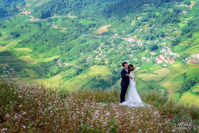 Đầy lãng mạng khi có bộ ảnh cưới rực rỡ tại thung lũng Mường Hoa