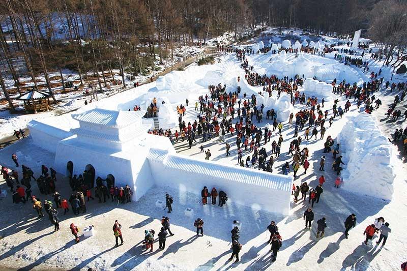 Lễ hội tuyết trắng trên ngọn núi Taebaeksan