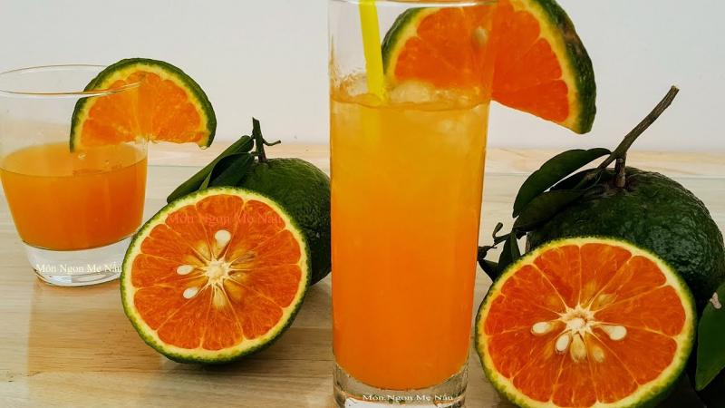 Vitamin C có trong nước cam sẽ giúp tăng cường hệ miễn dịch