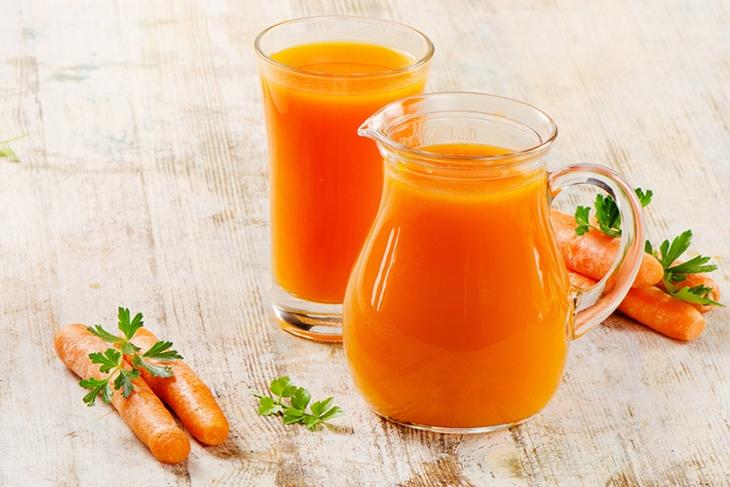 Nước ép cà rốt bổ trợ cho gan, tốt cho hệ tiêu hóa