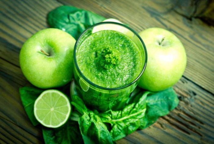 Nước ép cải xoăn - nho xanh - dưa chuột - táo xanh