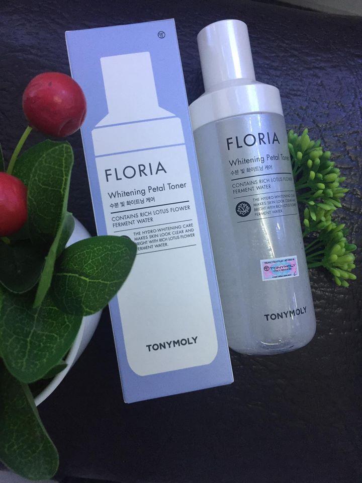 Nước hoa hồng Floria Whitening Petal Toner