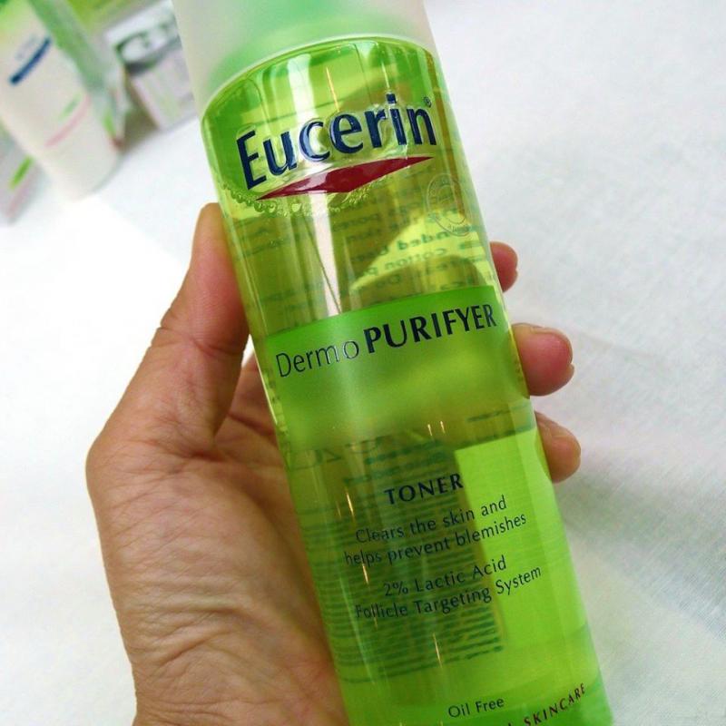 Nước hoa hồng se lỗ chân lông, hỗ trợ điều trị mụn Purifyer Toner - Eucerin