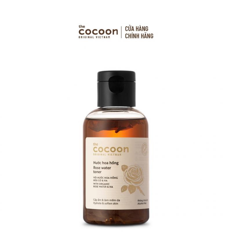 Nước hoa hồng (toner) Cocoon cấp ẩm & làm mềm da 140ml