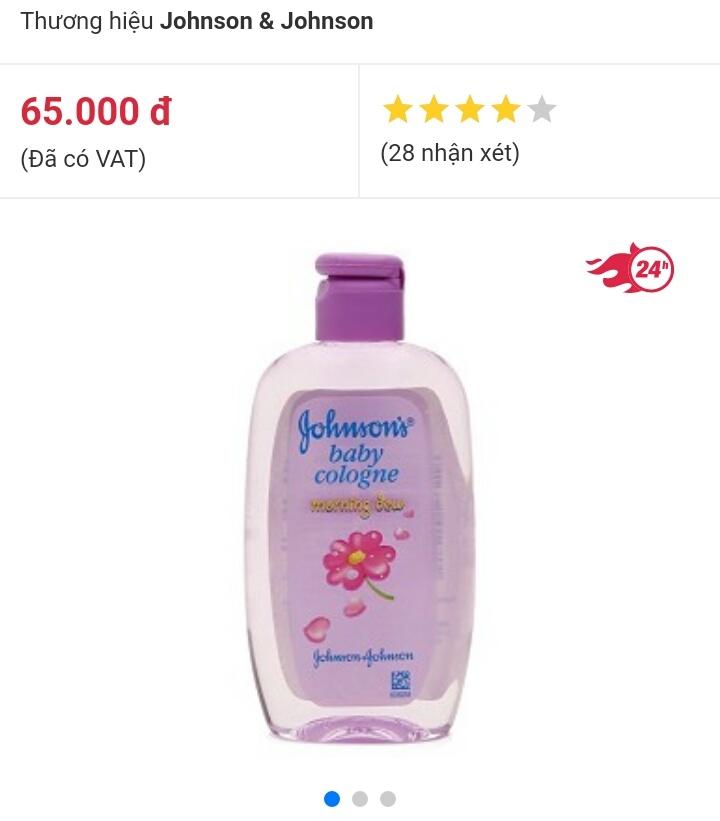 Nước hoa hương ban mai Johnson's baby 125ml