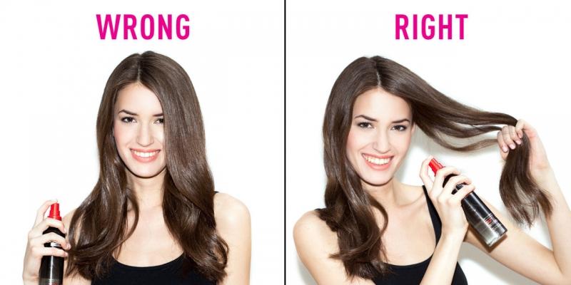 Sử dụng keo xịt tóc sai cách có thể làm bạn nổi mụn