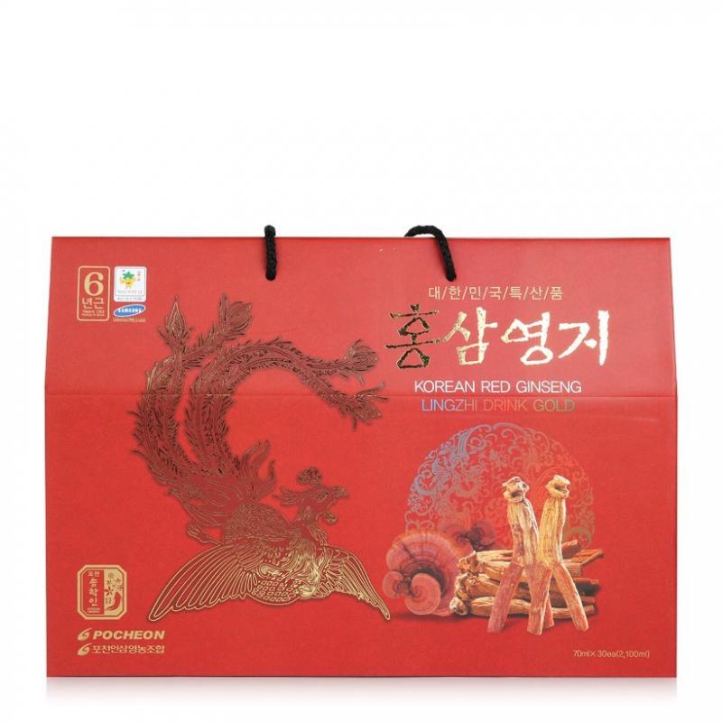 Nước Hồng Sâm Linh Chi Pocheon 30 Gói Màu Tím Hàn Quốc Chính Hãng: