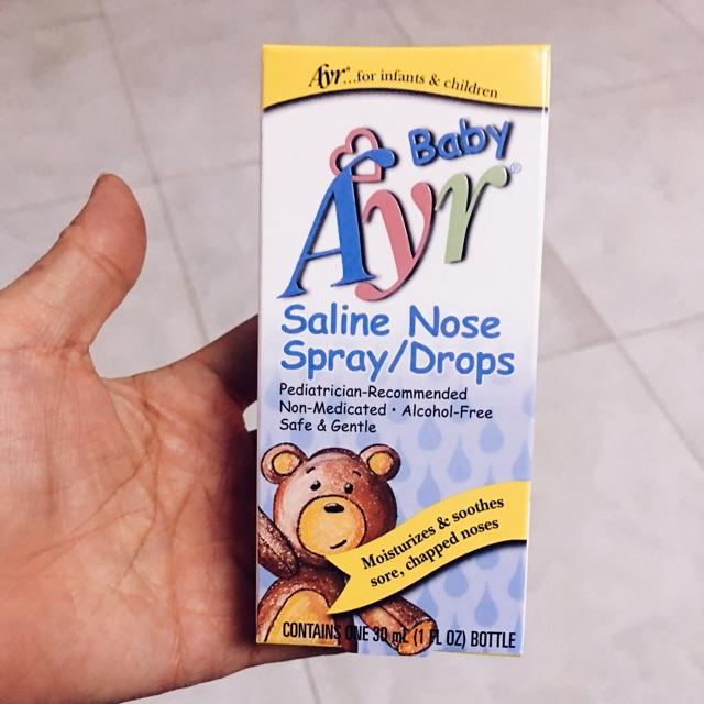 Nước muối vô trùng, làm sạch mũi cho bé Ayr Baby