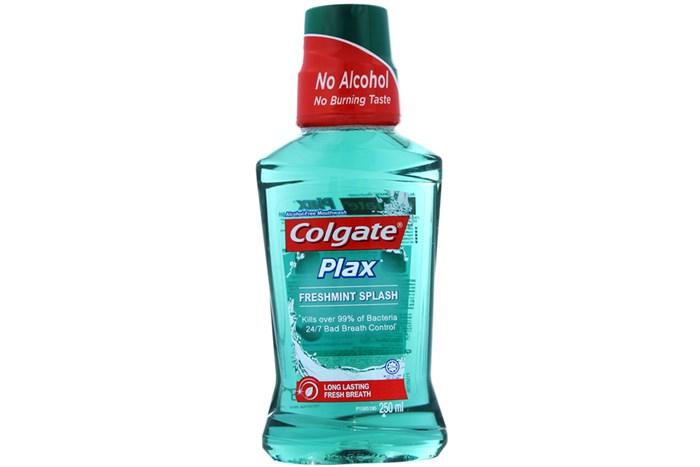 Nước súc miệng Colgate Plax Freshmint Splash hương Bạc hà chai 250ml