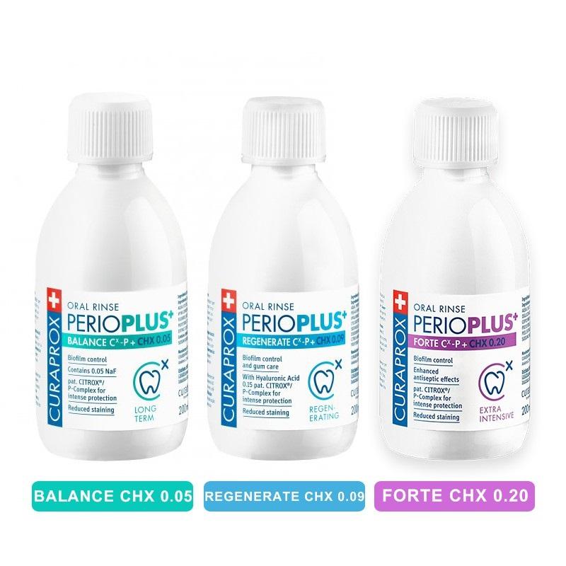 Nước súc miệng ngừa viêm nướu Perio Plus+ CHX 0.20