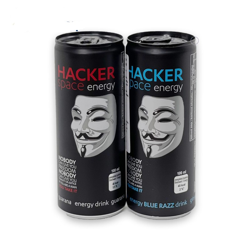 Nước tăng lực Hacker Space Energy Drink Blue Razz