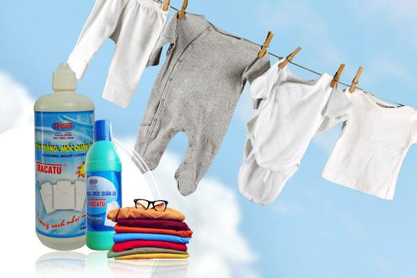 Tẩy trắng, sạch các loại quần áo, vải sợi.