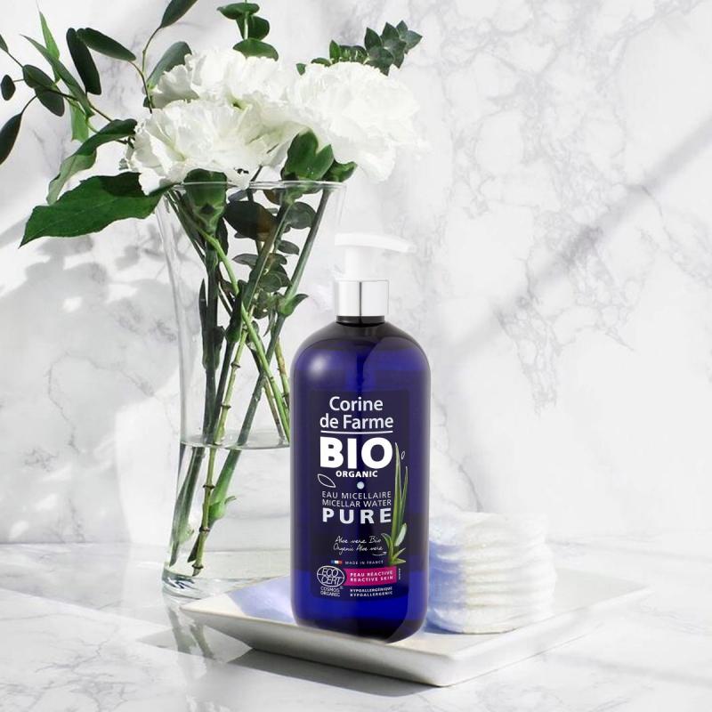 Nước Tẩy Trang Hữu Cơ Cho Da Nhạy Cảm CORINE DE FARME Bio Organic Micellar Water Pure