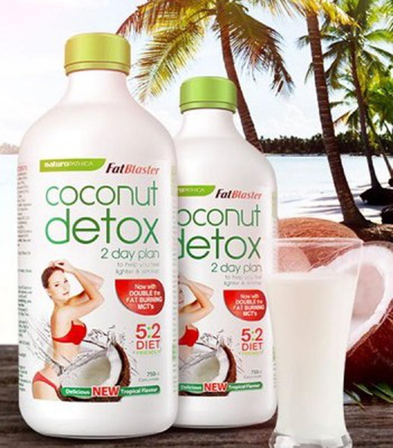 Nước uống CoConut detox 750ml 2 day giảm cân an toàn chính hãng Úc