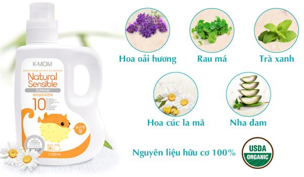 Nước xả vải hữu cơ K-mom Hàn Quốc