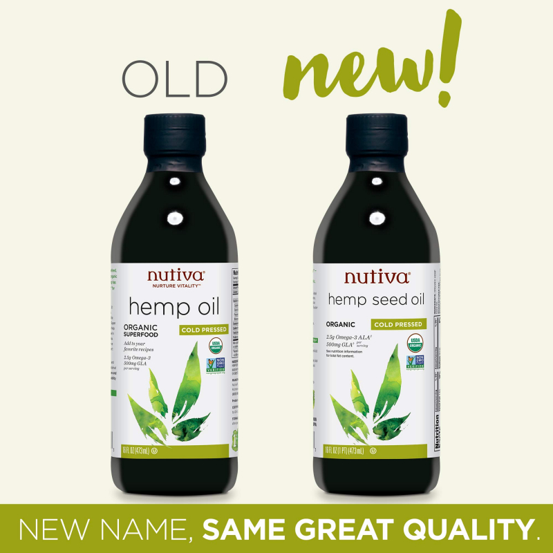 Nutiva's Organic Cold Pressed Hemp Oil
