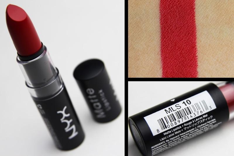 NYX Matte Lipstick - 10 Perfect Red