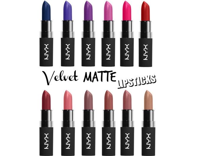 Bảng màu NYX Velvet Matte Lipsticks