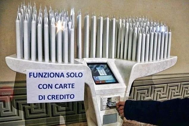 Ở Vatican bạn phải thắp sáng một ngọn nến để sử dụng một thẻ tín dụng