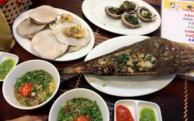 Những món hải sản ở Ốc Bác Ba Phi