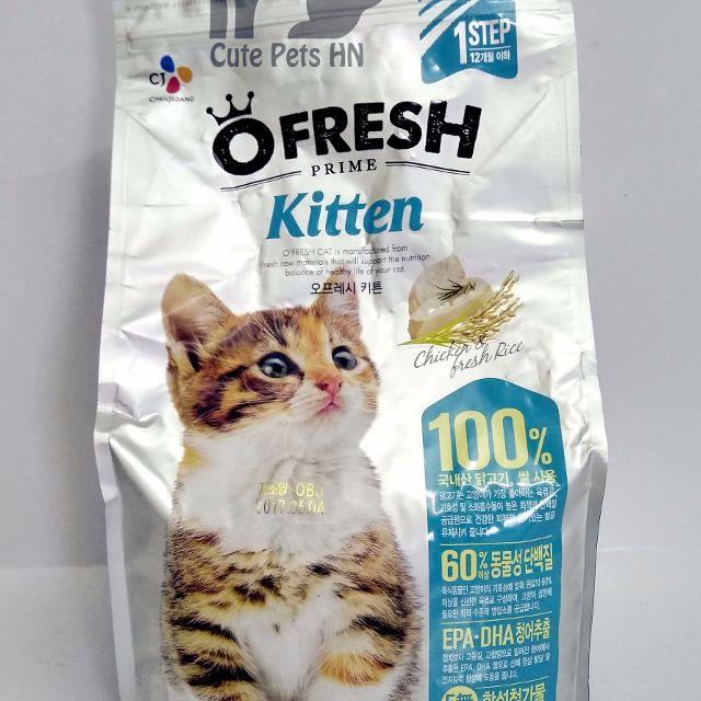Thức ăn mèo O'fresh – Cat care