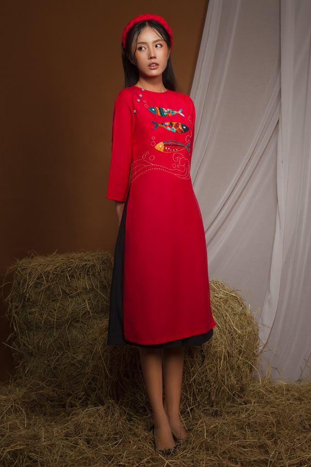 Hầu hết các thiết kế áo dài cách tân của OLV Boutique đều lấy cảm hứng từ những điều bình dị và gần gũi của miền quê nông thôn Việt Nam