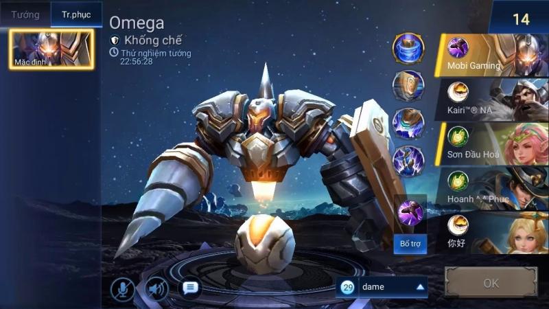 Omega là một tướng những tướng đỡ đòn với cách chơi tương đối dễ