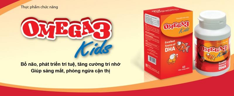 Omega 3 kids giúp bỗ não, phát triển trí tuệ... cho trẻ