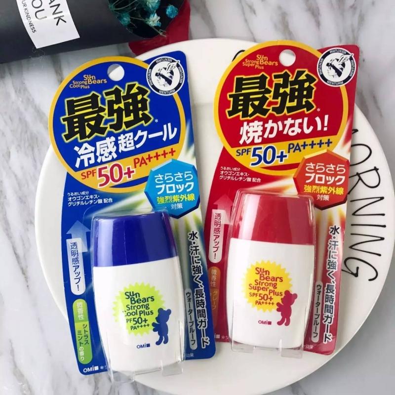 Omi Sun Bears Strong Cool Plus SPF50+ PA+++ đến từ Nhật Bản