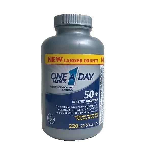 One A Day Men's 50+ Healthy Advantage là sự lựa chọn hoàn hảo cho nam giới 50+