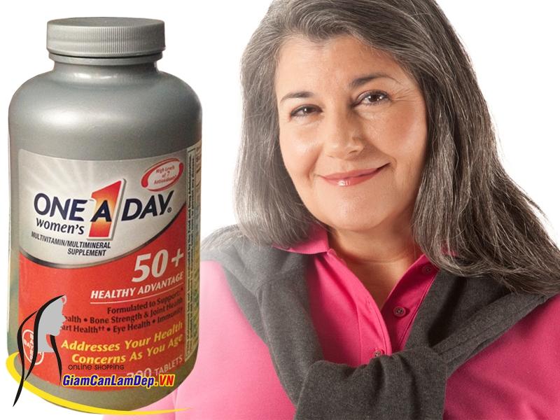 One A Day Women's 50+ Heathy Advantage là sự lựa chọn hoàn hảo cho phụ nữ ngoài 50