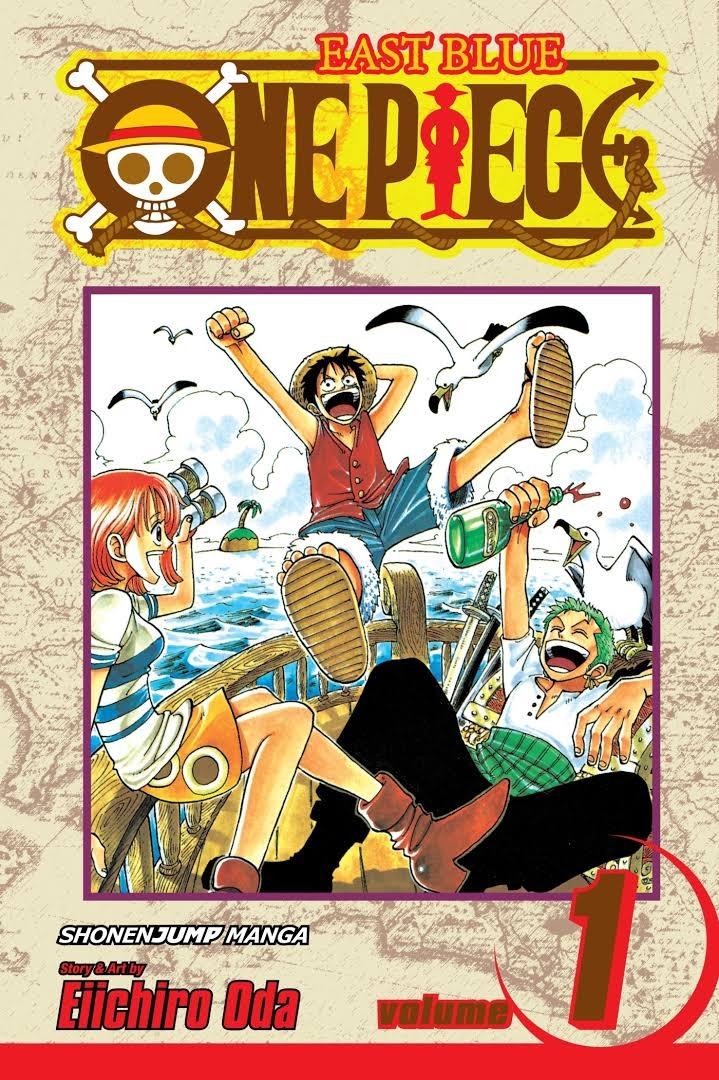 Bìa tập truyện đầu tiên của One Piece.