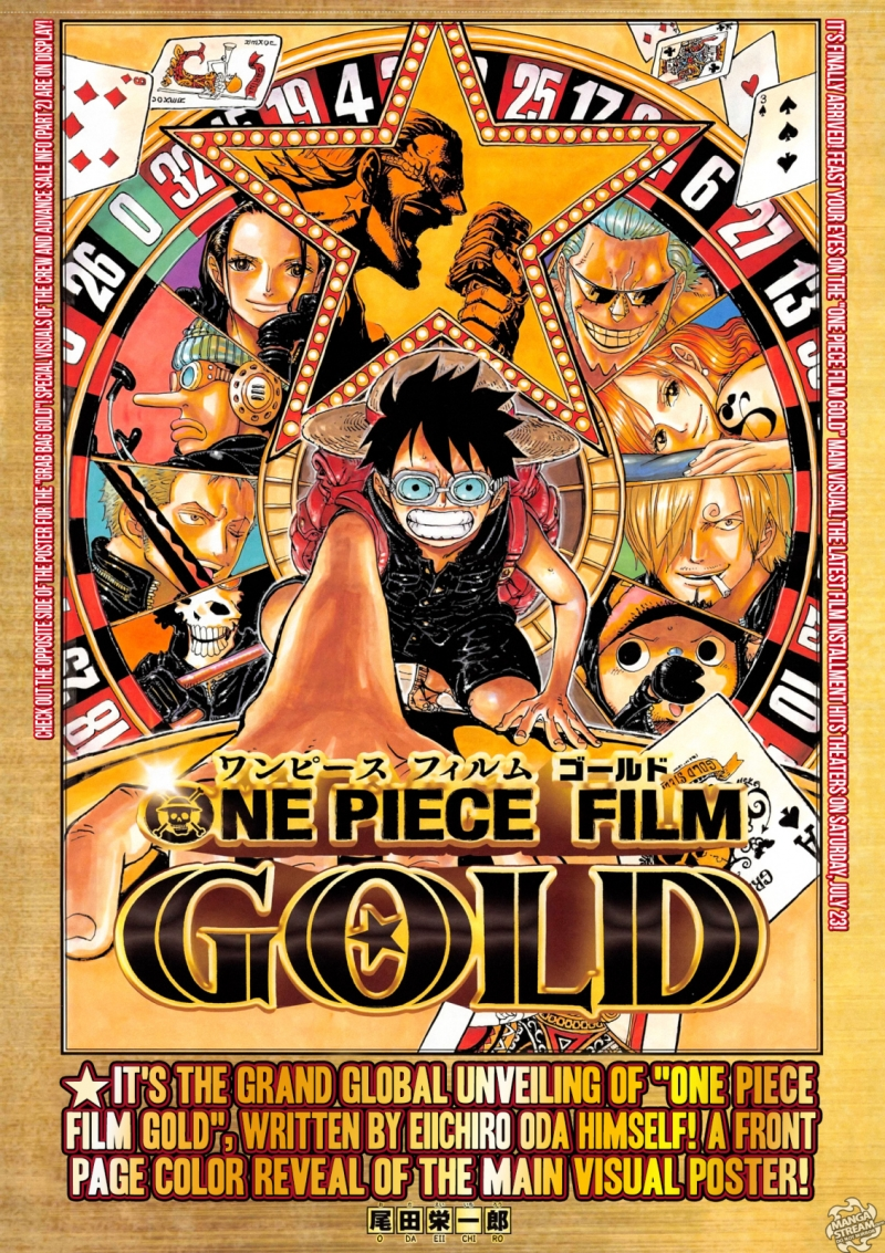 Poster One Piece Film: Gold.