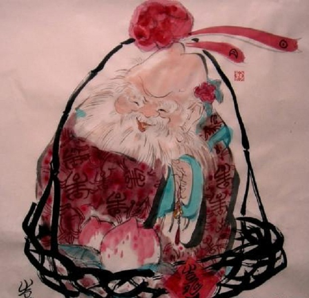 Hình vẽ phác họa về người đàn ông Trung Quốc sống thọ 443 năm