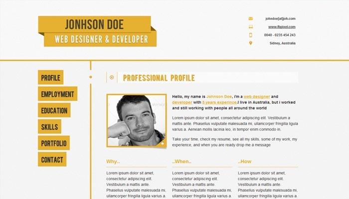 Một bản CV đơn giản từ Online CV