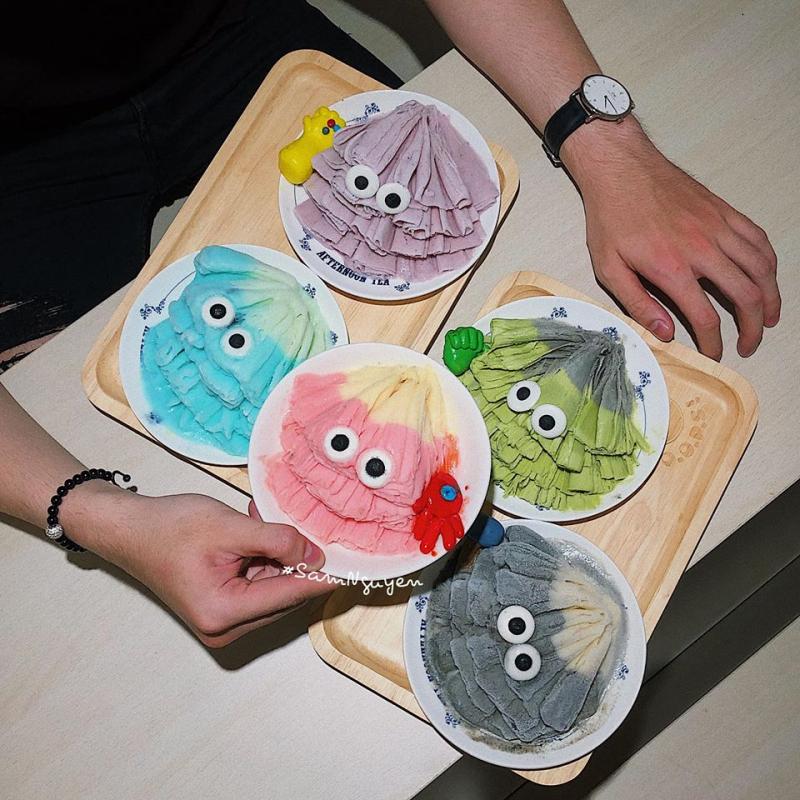 Địa chỉ này được xem là một trong những địa điểm khá thu hút giới trẻ với những đĩa kem có hình dáng thú vị cùng đa dạng màu sắc.