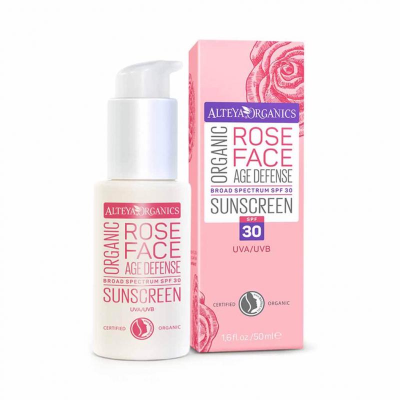 Organic Sunscreen Rose Face Cream