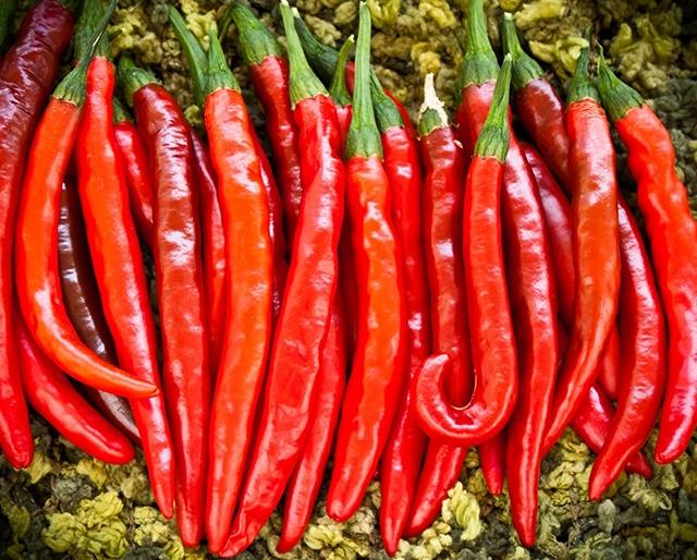 Ớt Cayenne giúp kích thích các enzyme tiêu hóa và giúp hạn chế các vết loét ở dạ dày