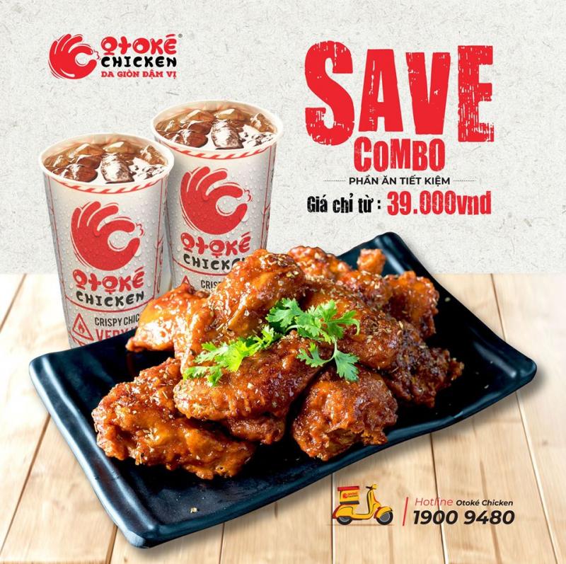 Món nổi bật của gà rán Otoké chính gà rán sốt cay.