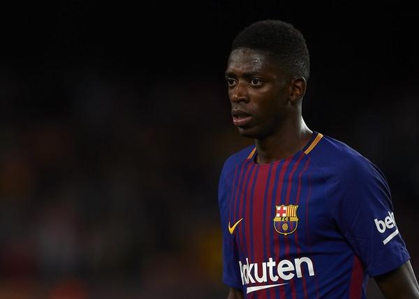 Dembele trong màu áo của Barcelona thay thế cho vị trí Neymar