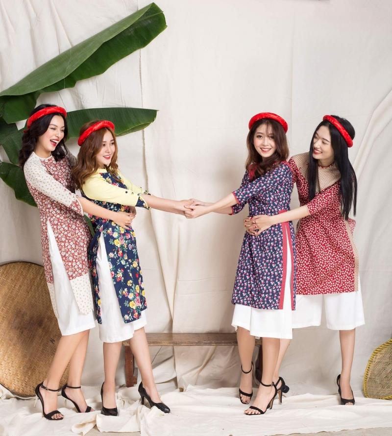 Oversize Shop luôn cho ra mắt bộ sưu tập áo dài cách tân mang đầy hương vị mùa xuân mỗi khi Tết chuẩn bị tới