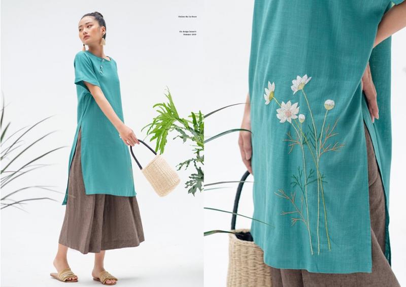 Oz design house với những mẫu áo dài cách tân độc đáo, màu sắc đơn giản nhưng không hề lu mờ
