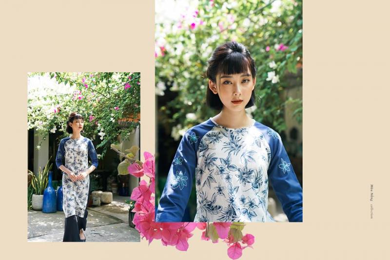 Áo dài cách tân tại shop được thiết kế đơn giản, nhã nhặn, màu sắc và hoa văn tinh tế