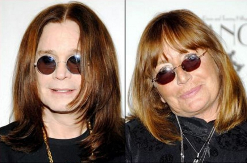 Ozzy Osbourne và  Penny Marshall